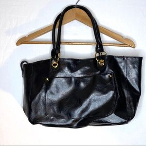 Large Black ALDO Handbag Purse Goldtone Hardware
